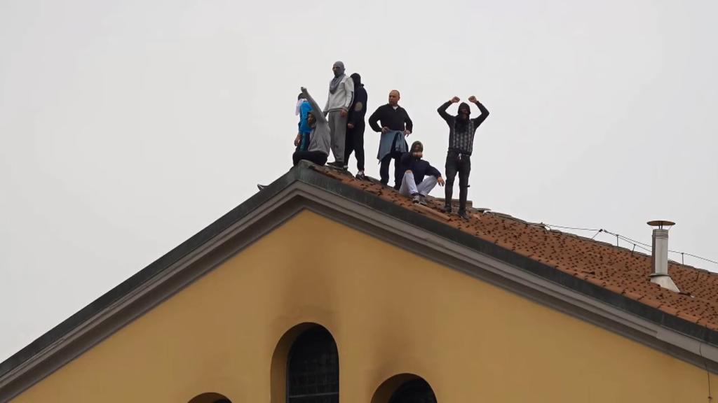 Protesta nel carcere di San Vittore.