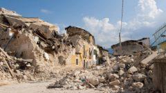 Macerie del terremoto dell'Aquila 2009