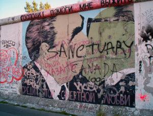 Immagine del, Muro di Berlino nella East Side Gallery Graffiti